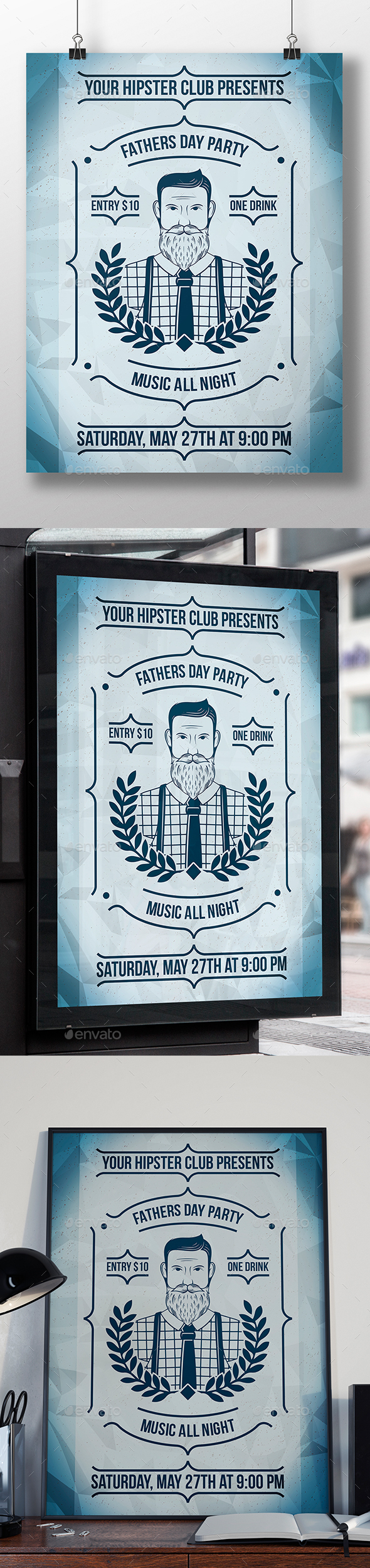 Fathers Day Poster Template - Clubs & Parties Events