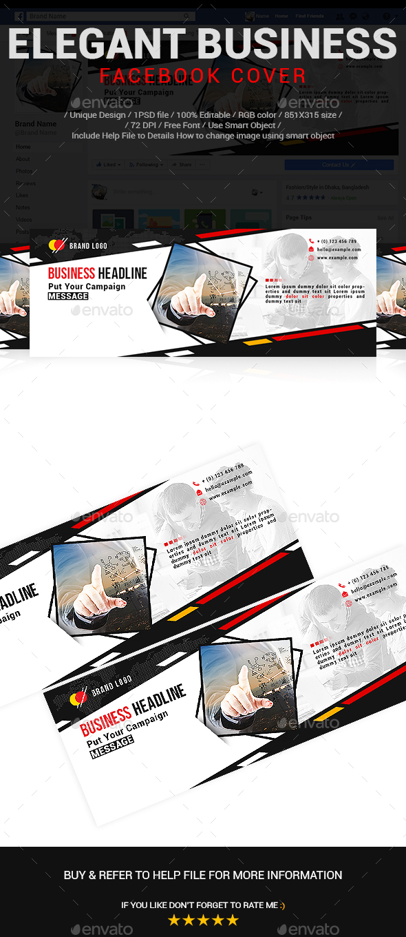 Elegant Business Facebook Cover Vol-03 - Social Media Web Elements