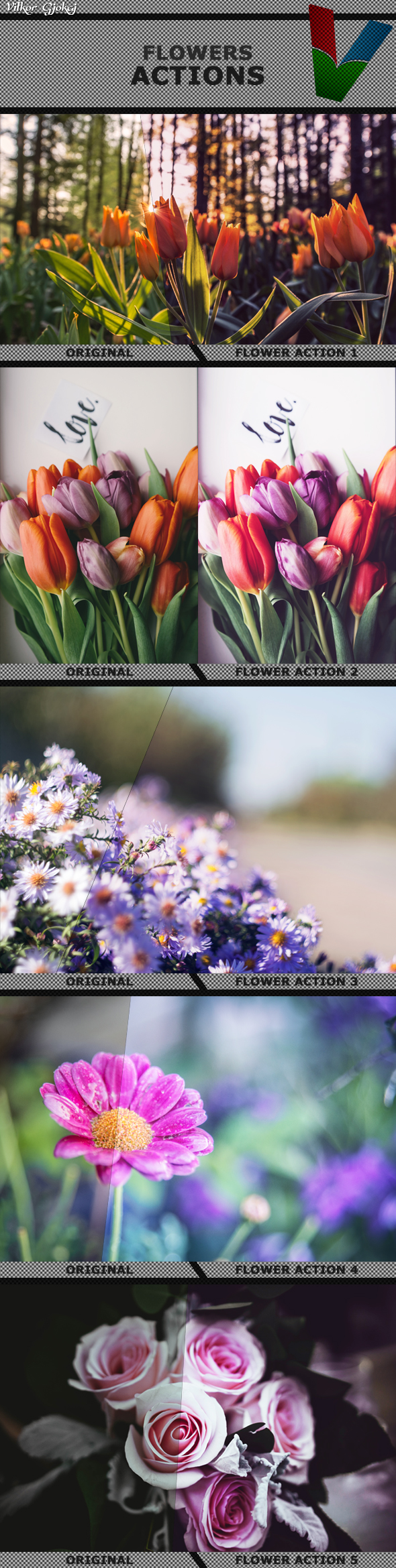 Flowers Photoshop Actions 1 - Photo Effects Actions