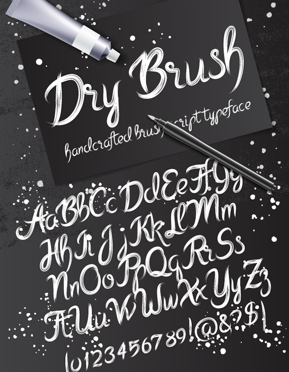 Dry Brush - Hand-writing Script