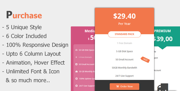 Purchase - Awesome Bootstrap Pricing Tables - CodeCanyon Item for Sale
