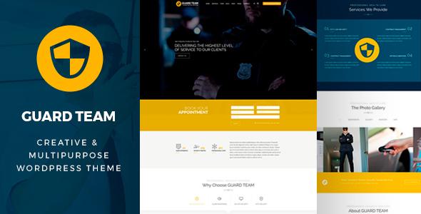ThemeForest Guard Team Security WordPress Theme 20001211