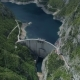 Aerial View of Famous Piva Canyon with Its Fantastic Reservoir. - VideoHive Item for Sale