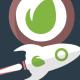 Fast Flat Rocket Logo - VideoHive Item for Sale