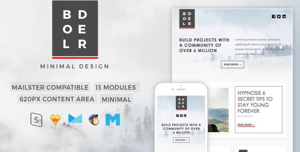 Bolder | Minimal Newsletter - Newsletters Email Templates