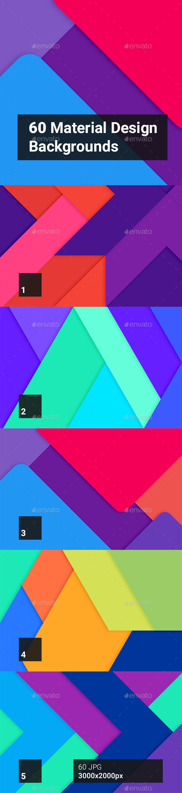 60 Material Design Backgrounds - Abstract Backgrounds