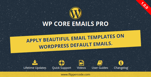 CodeCanyon WP Core Emails Pro 20218543