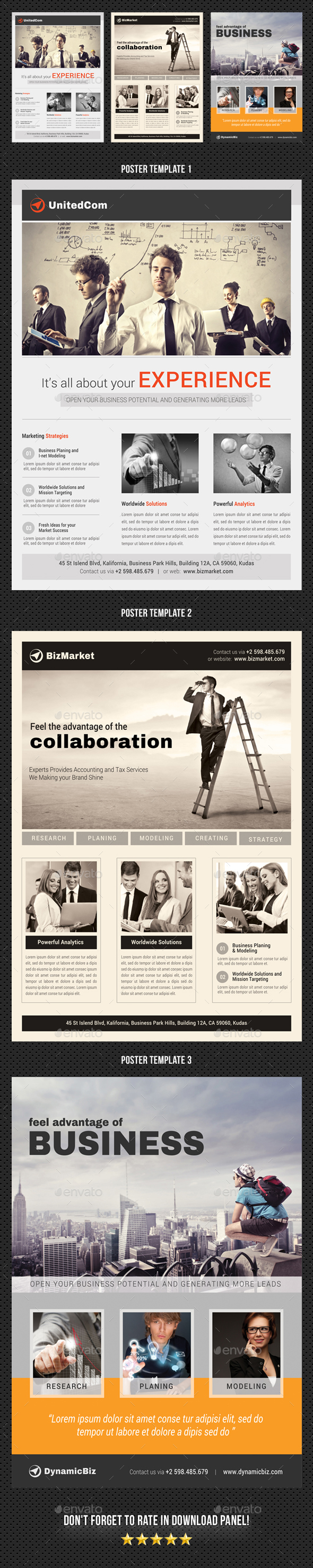 3 Corporate Business Poster Bundle 05