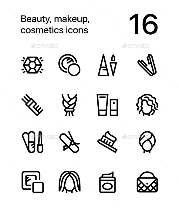 Beauty, Cosmetics, Makeup Icons for Web and Mobile Design Pack 4 - Miscellaneous Icons
