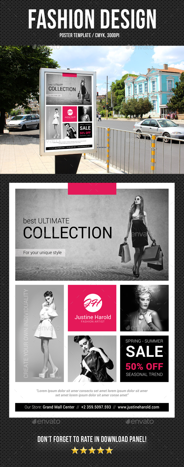 Fashion Poster 04 - Signage Print Templates
