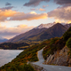 Scenic view of mountain landscape and the road, Bennetts bluff, NZ - PhotoDune Item for Sale