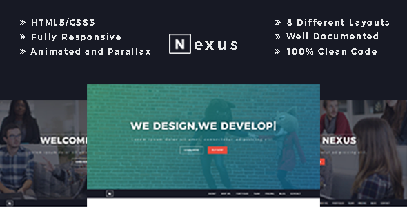 Nexus - Responsive One Page Business Template