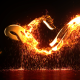 Burning Particles Logo Opener - VideoHive Item for Sale