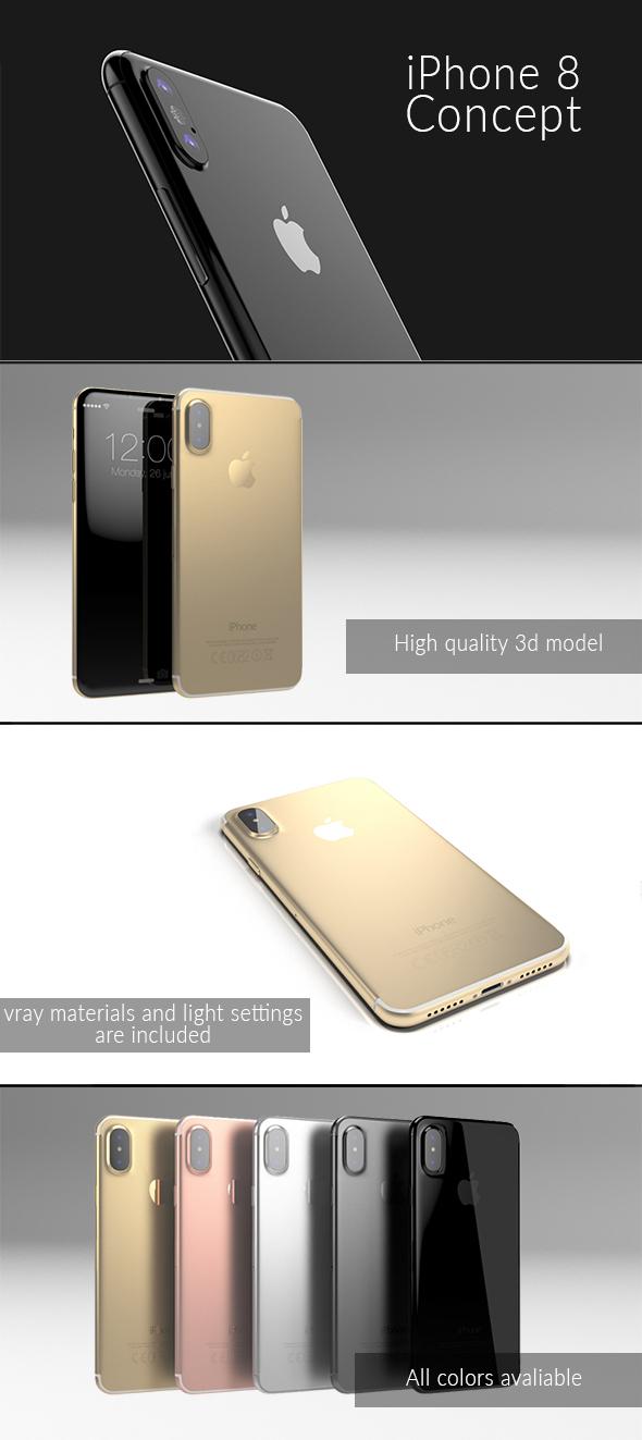 iPhone 8 Concept - Element 3D - 3DOcean Item for Sale