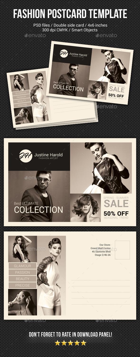 Fashion Postcard Template 3 - Cards & Invites Print Templates