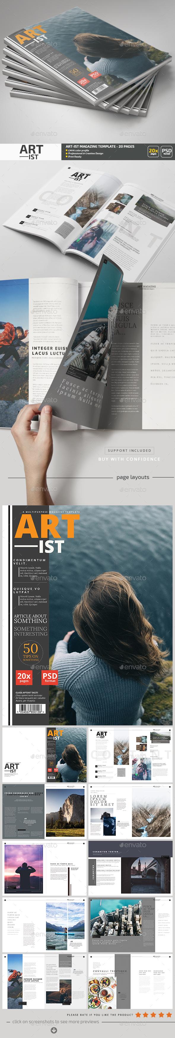 Art-ist Magazine Template V.11 - Magazines Print Templates