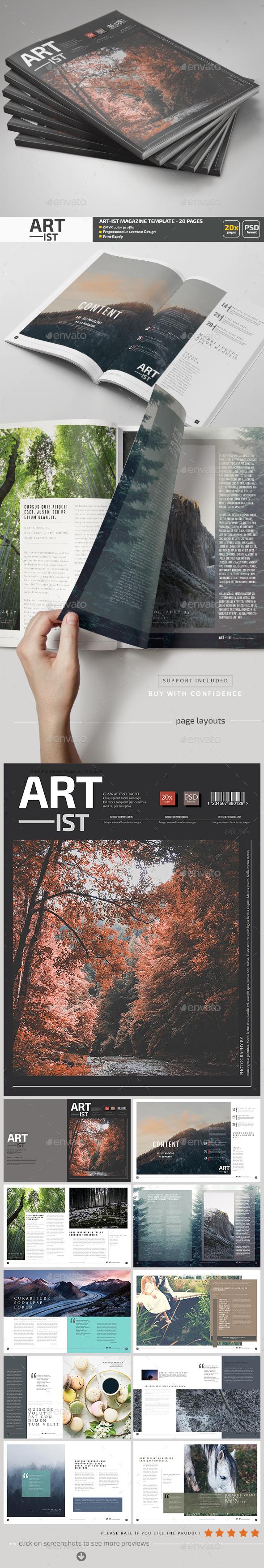 Art-ist Magazine Template V.13 - Magazines Print Templates