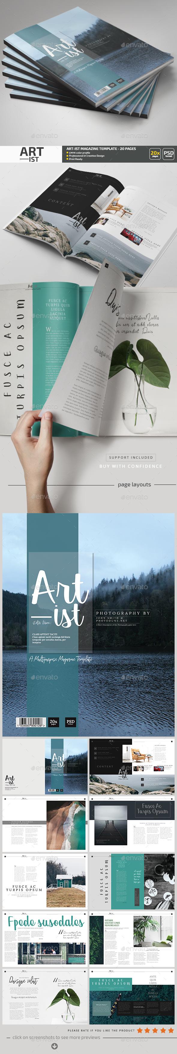 Art-ist Magazine Template V.14 - Magazines Print Templates