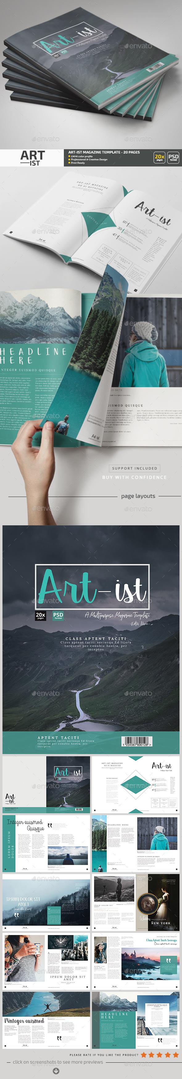 Art-ist Magazine Template V.15 - Magazines Print Templates