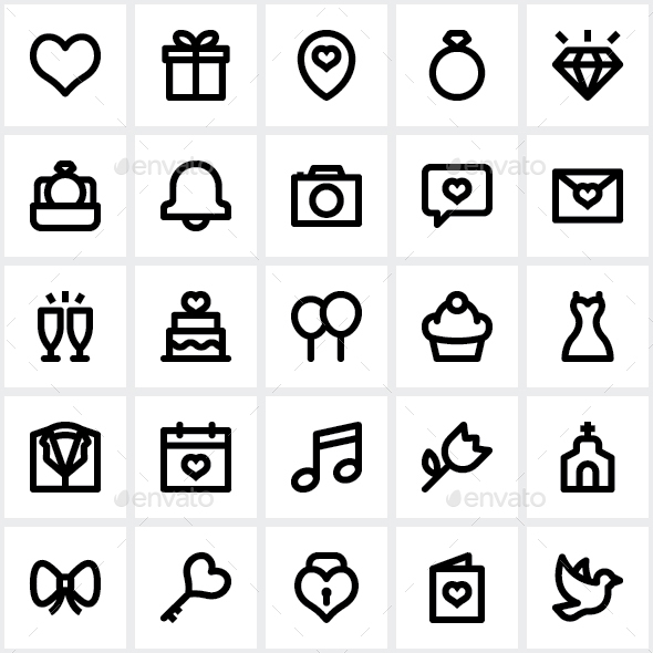 Wedding Icon Pack - Icons