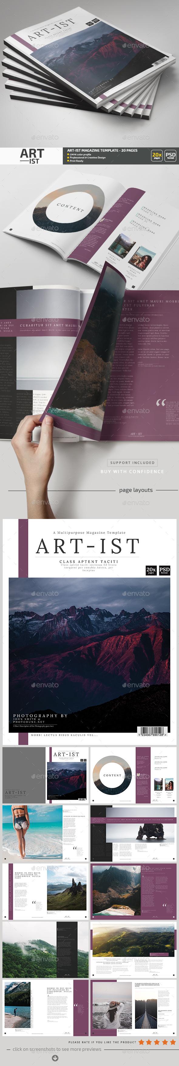 Art-ist Magazine Template V.16 - Magazines Print Templates