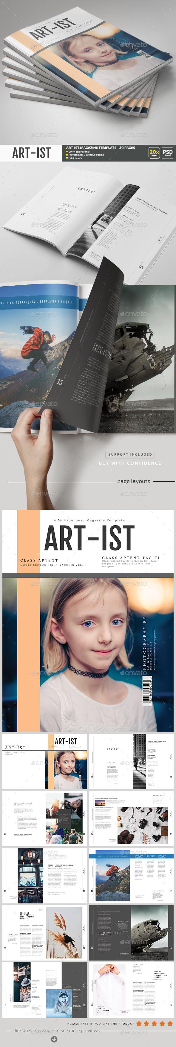 Art-ist Magazine Template V.17 - Magazines Print Templates