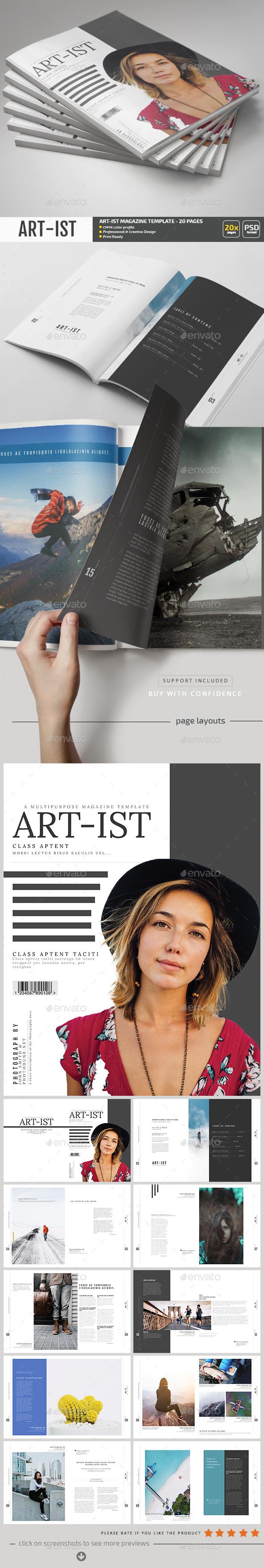Art-ist Magazine Template V.18 - Magazines Print Templates