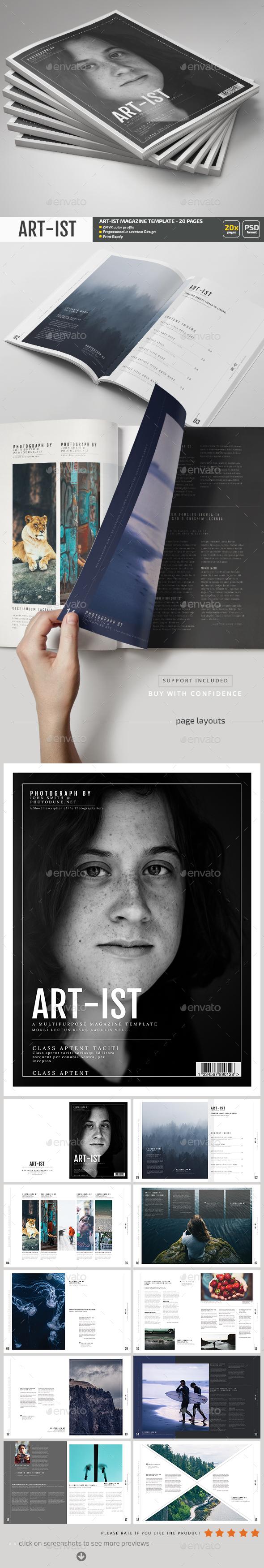 Art-ist Magazine Template V.19 - Magazines Print Templates