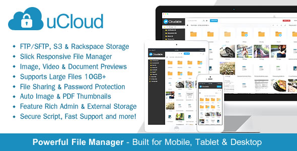 uCloud - File Hosting Script - Securely Manage, Preview & Share Your Files - CodeCanyon Item for Sale
