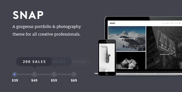 SNAP - Creative Portfolio / Photography WordPress Theme