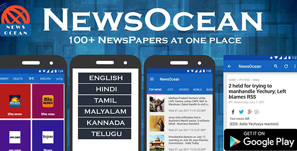 NewsOcean : News App with admob and push notification - CodeCanyon Item for Sale