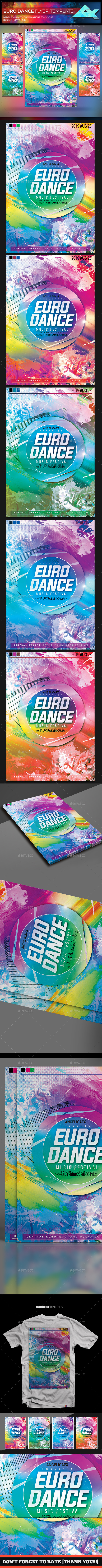 Euro Dance Music Festival Flyer Template - Events Flyers