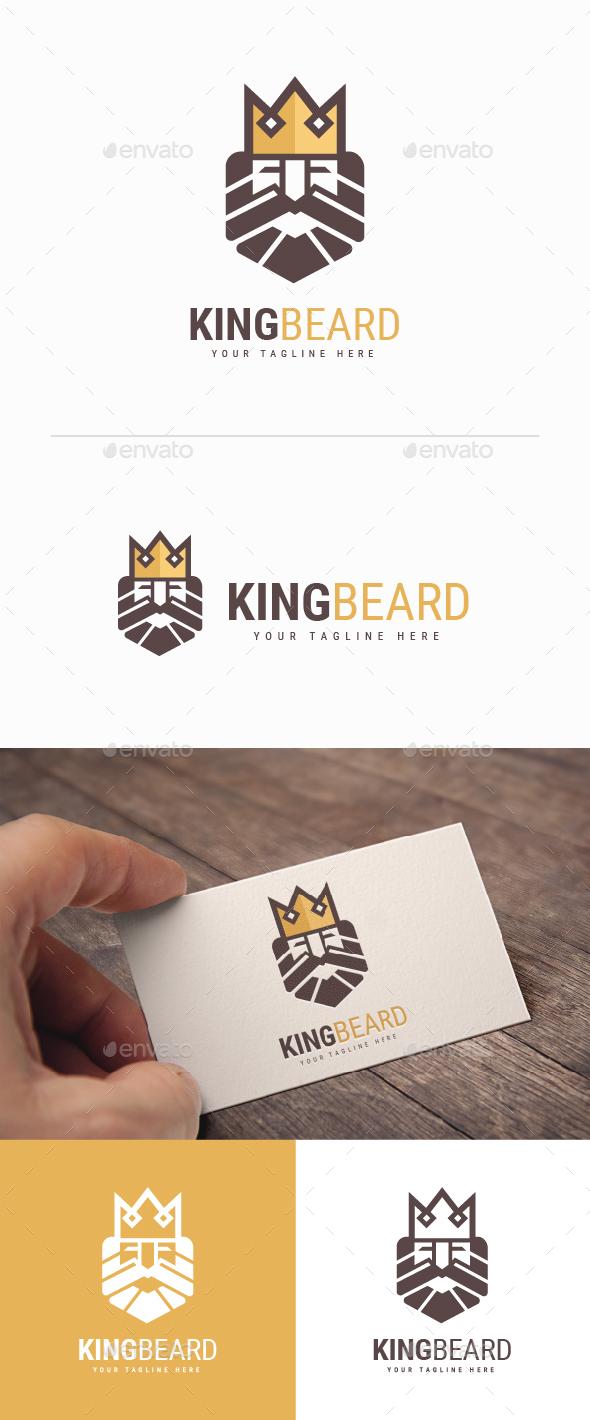 King Beard Logo - Humans Logo Templates
