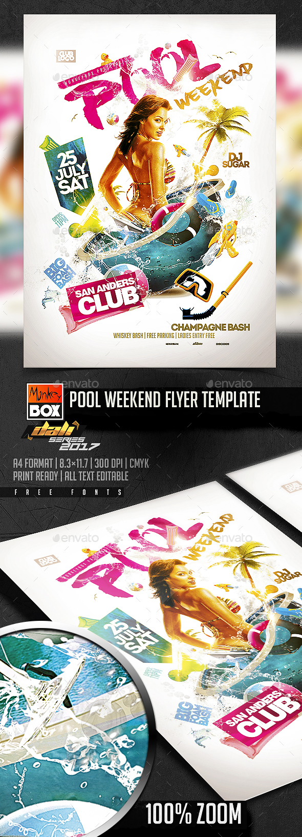 Pool Weekend Flyer Template - Events Flyers