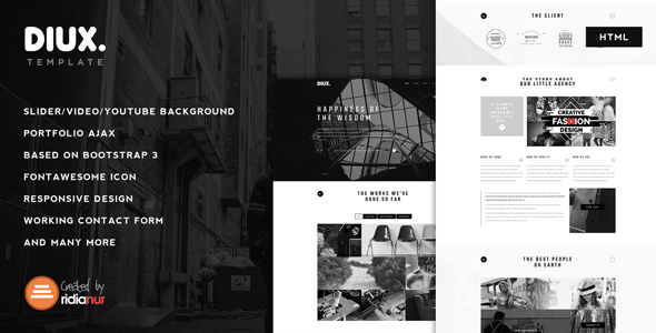 Diux - Responsive One Page Portfolio Template