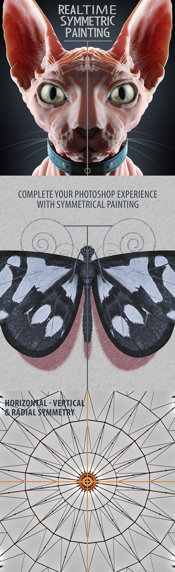 Realtime Symmetry Painting - Photoshop Add-ons