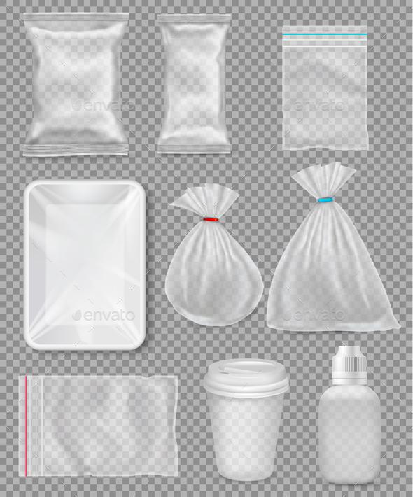 Big Set Of Polypropylene Plastic Packaging