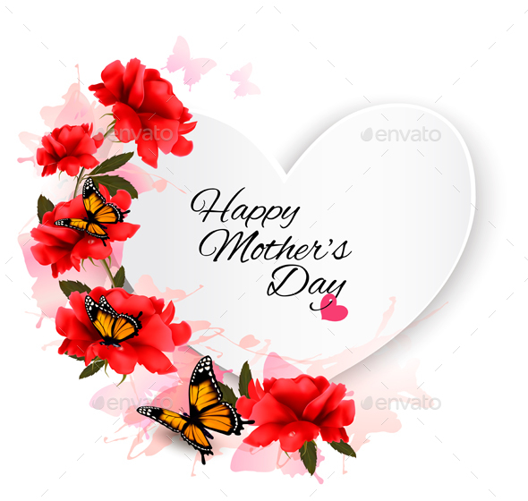 Mother's Day Background. Vector. - Seasons/Holidays Conceptual