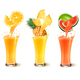 Set Of Fuit Juice Splash In A Glass. - GraphicRiver Item for Sale