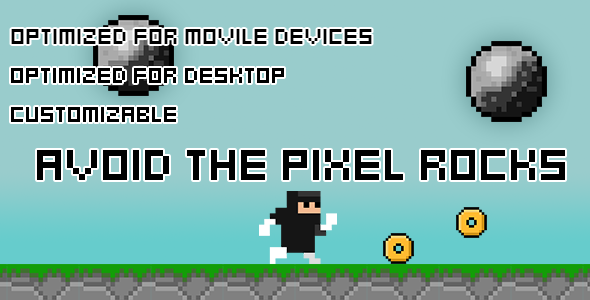 Avoid The Pixel Rocks(HTML5 Game + Construct 2 CAPX)