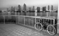 Coronado Island Sidewalk Bicycle San Diego Waterfront Downtown