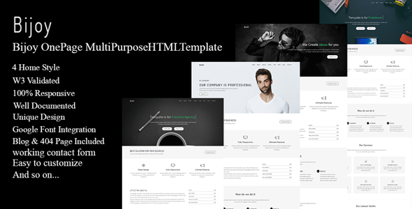 Bijoy - OnePage MultiPurpose HTML Template