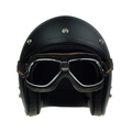 Black motorbike classic helmet and goggles - PhotoDune Item for Sale