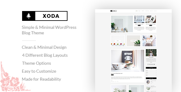XoDa - Simple & Minimal WordPress Blog Theme - Personal Blog / Magazine