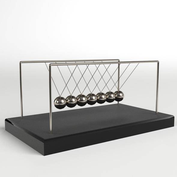Newton's Cradle - 3DOcean Item for Sale