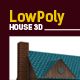 Lowpoly 3D House - 3DOcean Item for Sale