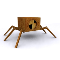 3D lowpoly droid coffee table model