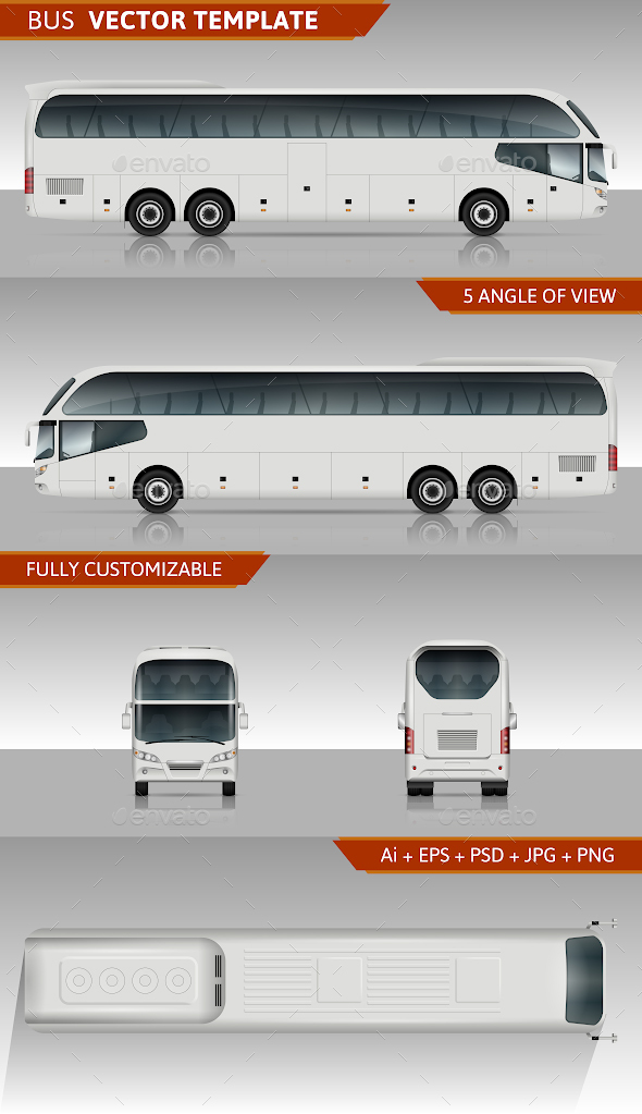 GraphicRiver Coach Bus Vector Template 20222125