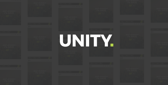 Unity - Agency HTML Template