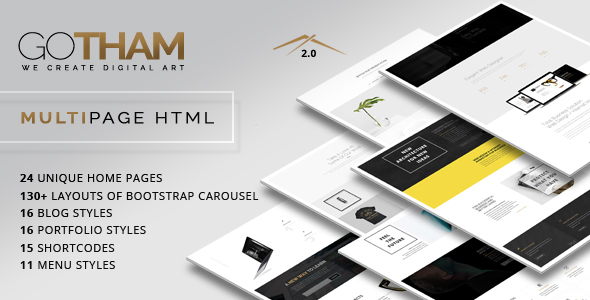 GoTham - Multipurpose HTML5 Responsive Parallax Template - Business Corporate